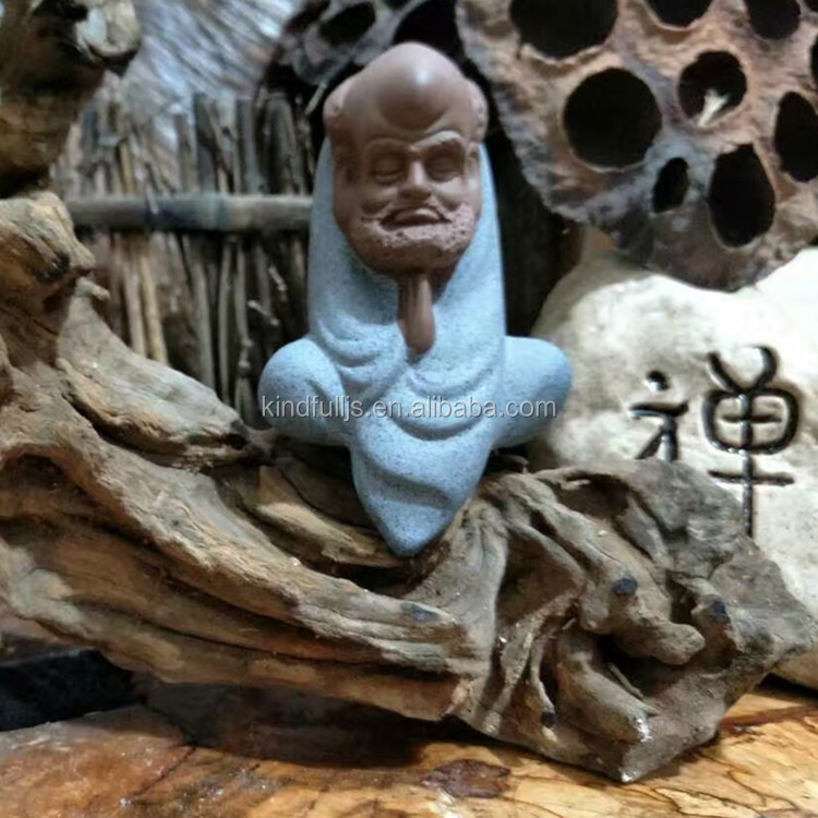 Purple Sands Ceramic Crystal Monk Figurine