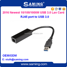 1000Mbps USB 3.0 to RJ45 port external Ethernet Lan Card/ usb network card