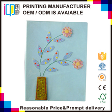 OEM services best price cardboard craft cover photo album with one color imprint