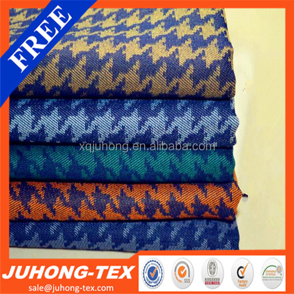 Houndstooth Pattern Denim Jean Fabric Factory