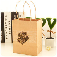 Latest Design Unique grocery brown kraft paper bag without handle
