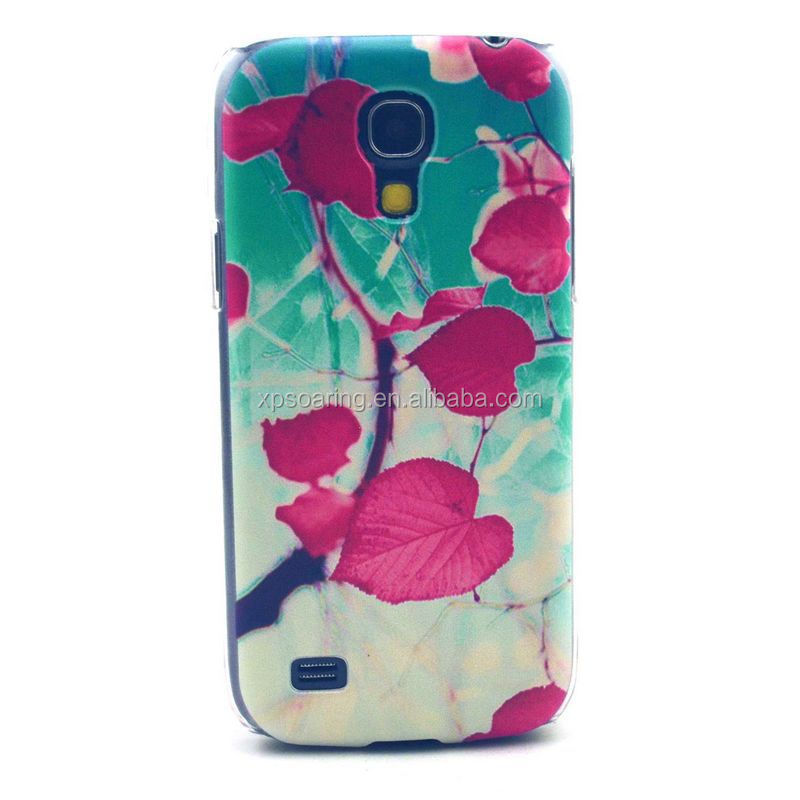 For Samsung I9190 Flower hard case, for Galaxy S4 mini plastic shell case