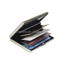 Latest Stainless Steel RFID Blocking Credit Card Holder for Men & Women - Stylish Travel Wallet - Best protection for your Bank
