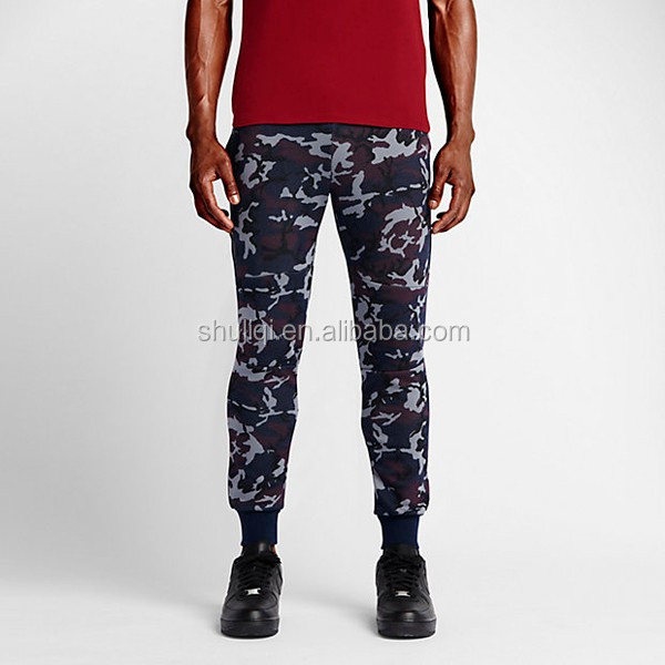 80%cotton/20% polyester popular camouflage printed man's trendy chino jogger pants