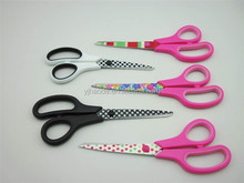 Plastic handle coating blade office scissor/kid scissors /statonery scissors