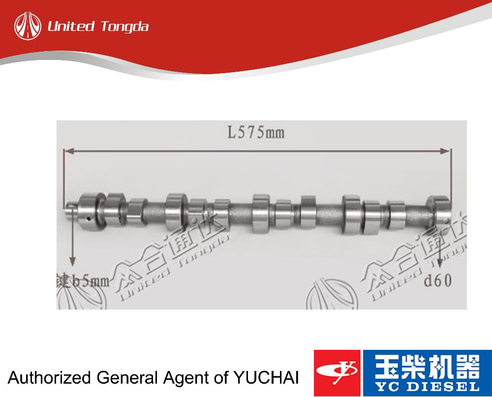 Original Yuchai parts YC4G camshaft B30-1006015A for Chinese truck