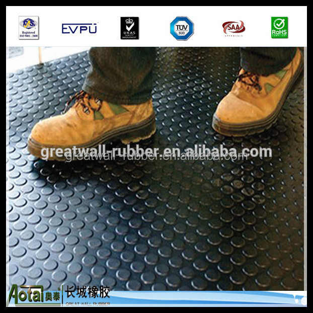 anti-slip rubber flooring products button rubber mat used in gym