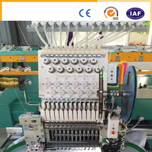 CHUANGJIA single head cap/t-shirt/flat embroidery machine (1201) with easy cording with dual sequin