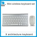 Silver and golden color wireless mouse and keyboard combo for Apple