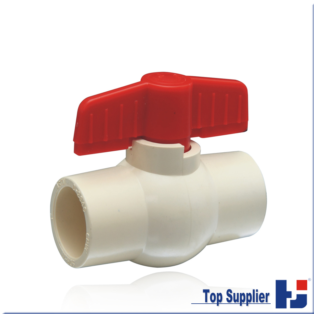Top supplier CPVC ASTM D2846 pipe connection fittings heat resistant hot water cpvc ball valve