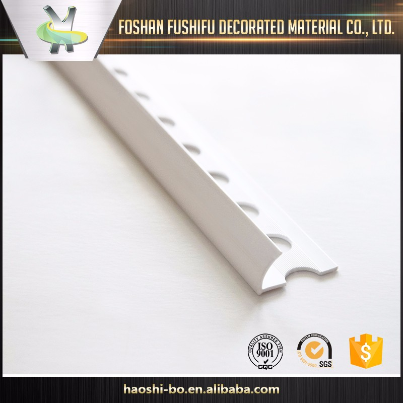 China plastic factory decorative curved corner PVC coated tile trim