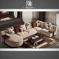 Sitting Room Modern Elegant Extra Large 6 Seater U Shaped Cheap Sectional Sofa