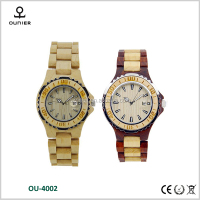 2016 fashion wooden watch custom logo wristwatch mixed color attention watch