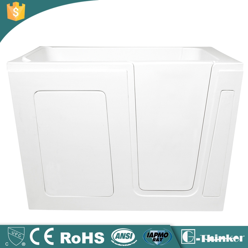Hot sale cUPC approved acrylic walk in bathtub with seat