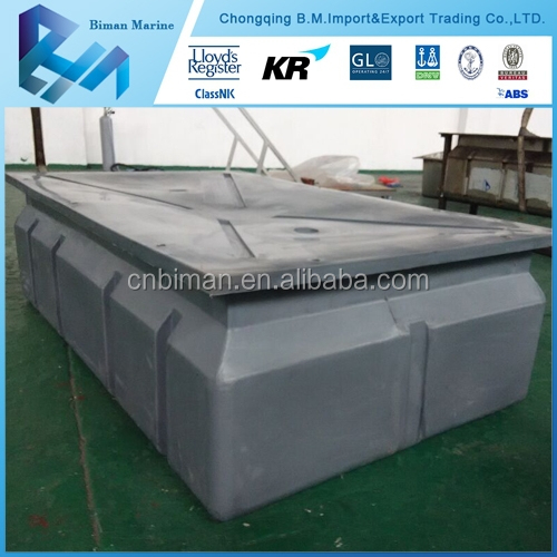 LLDPE foam filled floating dock plastic pontoon floats boats