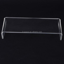 Edges Polished Lucite Display Riser Rectangle Acrylic Monitor Stand