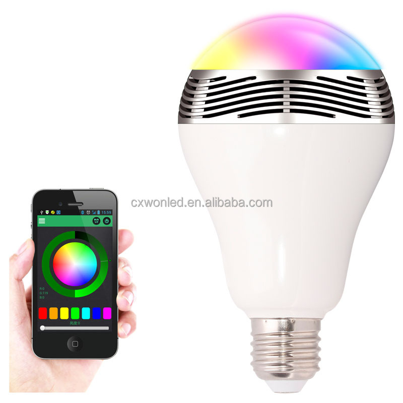 New Wireless Audio Speaker led bulb light Smart Music bulb AC100-240V RGB Lamps E27 led bluetooth speaker bulb WITH remote
