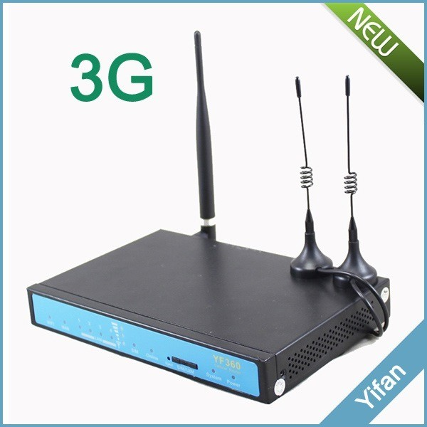 YF360-H M2M newest Industrial wireless wifi 3G router RJ45 with serial port SIM card slot