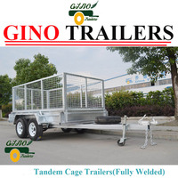 Tandem axle heavy duty cage trailers GN-BT85W