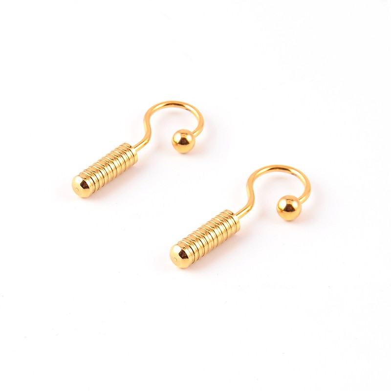 2017 Newest design gold plated multi-circle spiral ear studs