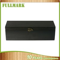 Single bottle container wooden wine box