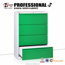 Top brand 4 drawer KD tall drawer cabinet
