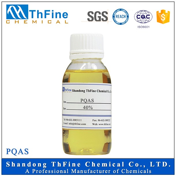 Water Treatment Chemical Flocculant Poly (QuaterNary Ammonium) Salt PQAS