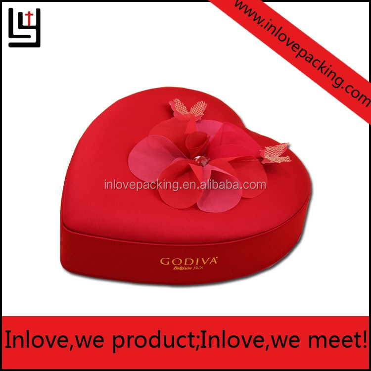 New Fashion Heart Shaped Gift Box Christmas Gift Box With Foam In It