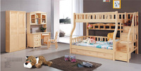 Cheap Solid Wooden Bunk Bed Children Furniture