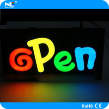 Electronic product customized led open sign / Billboard Backlit / led letter sign for advertising and promotion