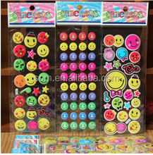 popular Smiling face cartoon foam sticker