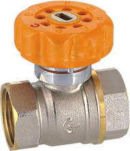forged magnetic brass ball valve with lock