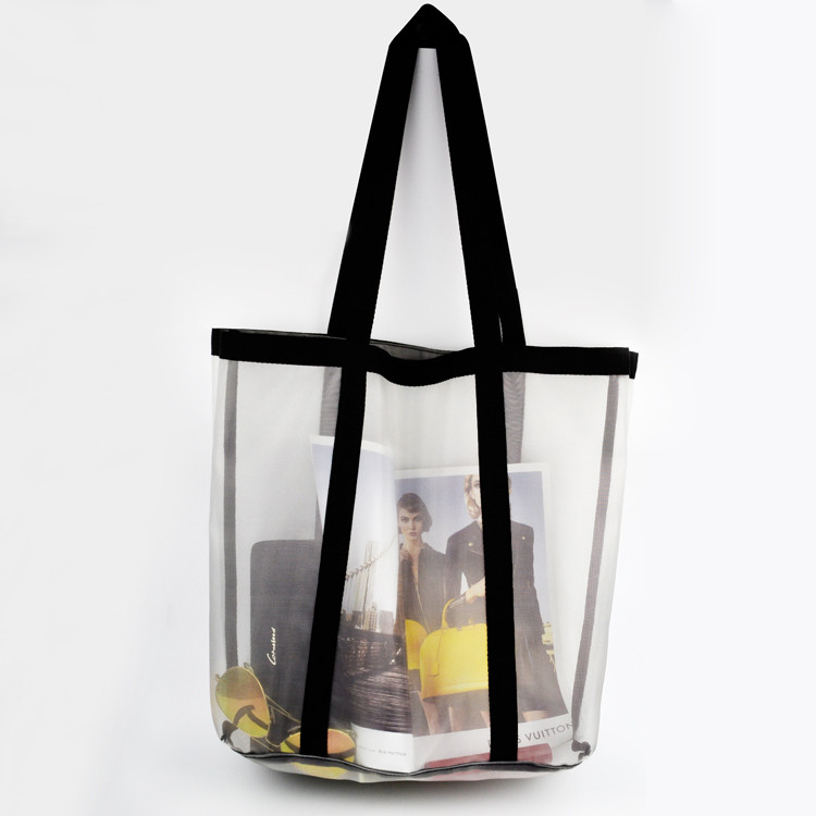 anchor plastic beach bag supplier mesh tote bag with holes
