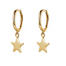 2019 New Style Fashion Women Accessories Jewelry Silver and brass Star Shape Hoop <strong>Earrings</strong> For Girl