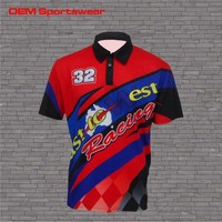 sublimation racing short sleeve shirts motorcycle for man