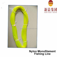 China manufacturing yellow color bulk 500m high tenacity nylon fishing Line