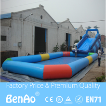 W007 Commercial double lanes inflatable water slides/Inflatable Water Park Kids Inflatable Pool With Slide