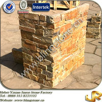 Popular Golden Slate Exterior Stone Wall