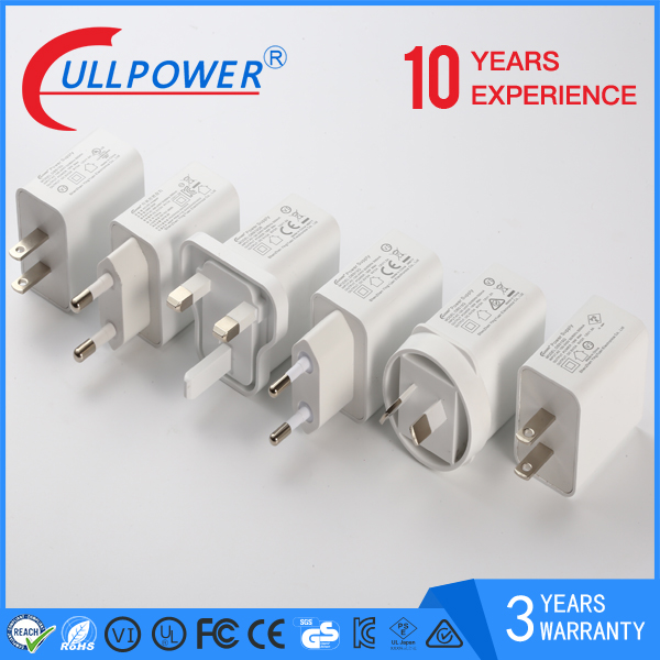 UL FCC CE CB PSE KC SAA NOM approved 18 W Quick charger 2.0 for tattoo machines dc power supply with US plug