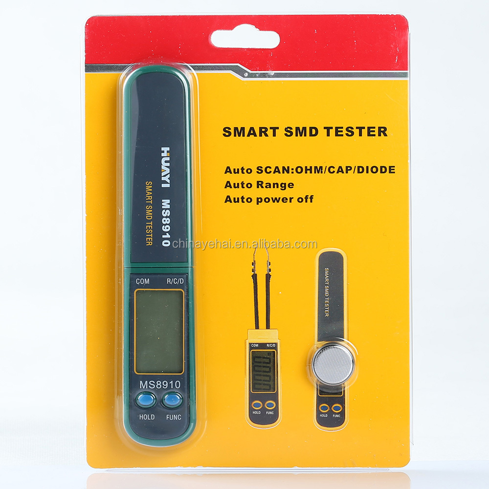 2999 Counts Data Hold Mastech Smart SMD Resistance Capacitance Diode Tester Meter MS8910