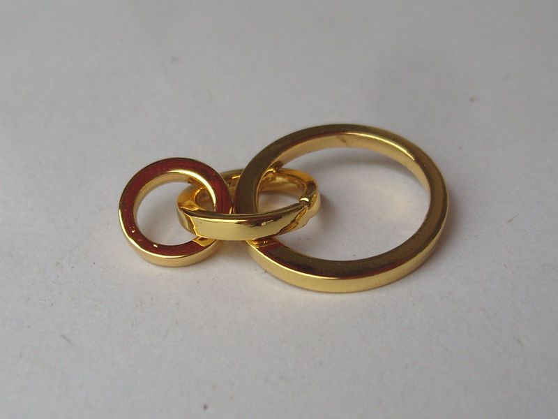 Zinc alloy die cast metal o ring for bags