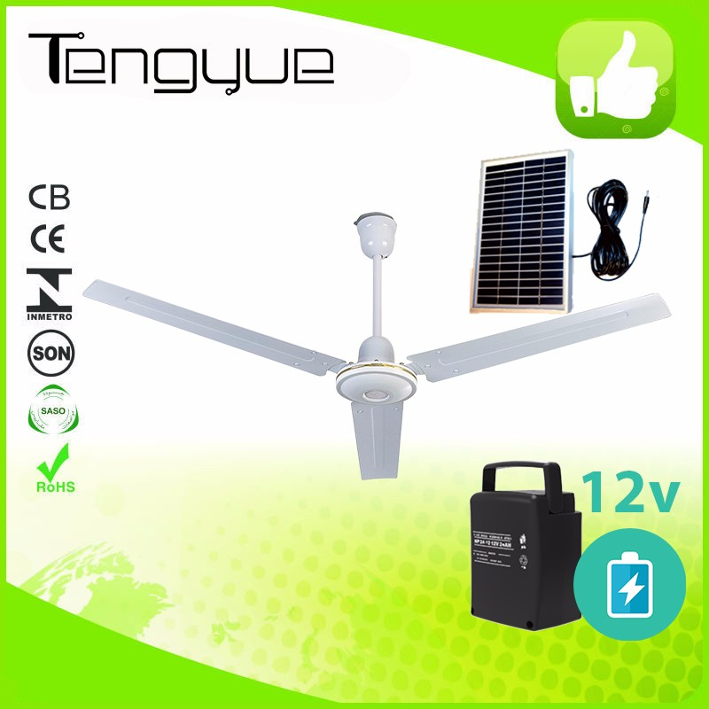 Energy saving dc ceiling fan solar ceiling fans 12v with bldc motor