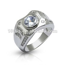 925 silver zircon white stone imitation jewellery ring for wedding
