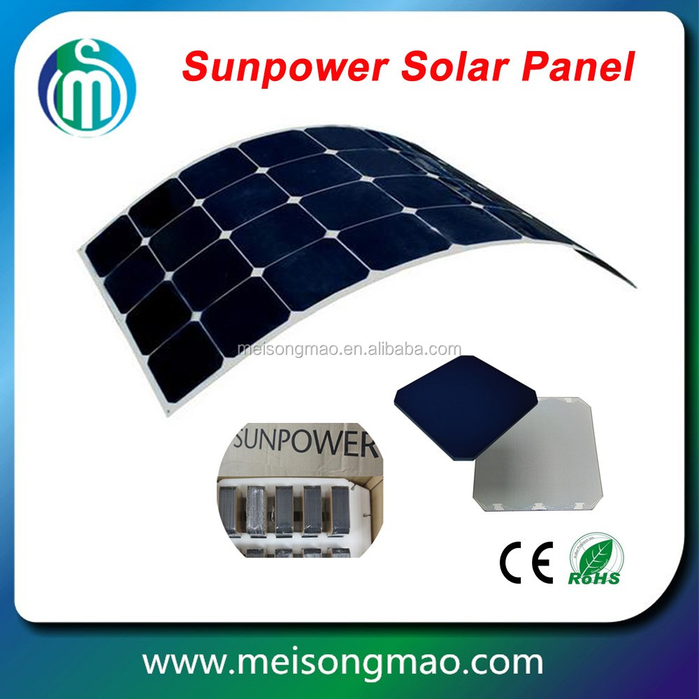 China flexible amorphous solar panel solar system for home