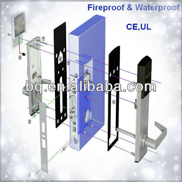 ANSI Waterproof and Low Temprature Working RFID Hotel Management System Door Lock K-3000XH3B