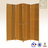 2015 Amazon online selling folding 4 panels paper rope room screen with master carton