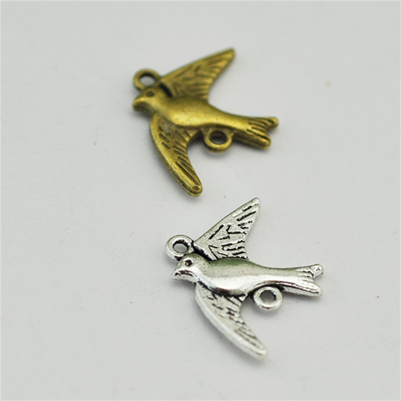 Antique bronze Dove of peace Birds Link Antique Silver Pendant fashion connector accessory jewelry finding