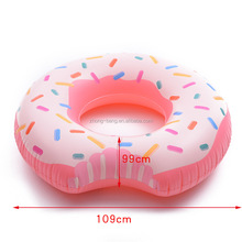 Big Size Pink Color Inflatable donut pool float