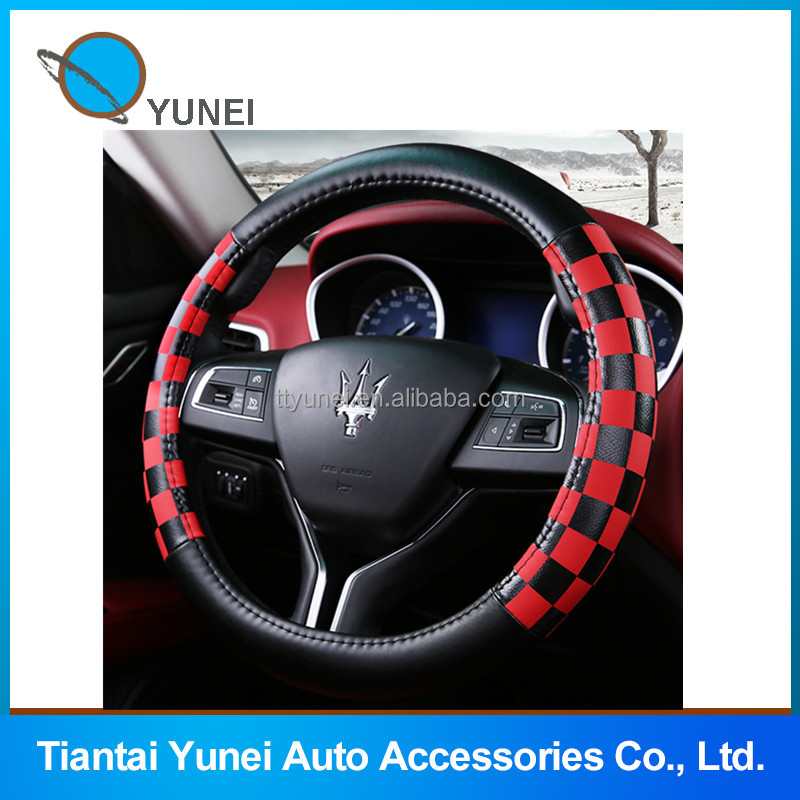 Hot sale cheaper PU winter car steering wheel cover
