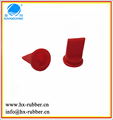 Rubber silicone air small black duckbill valve